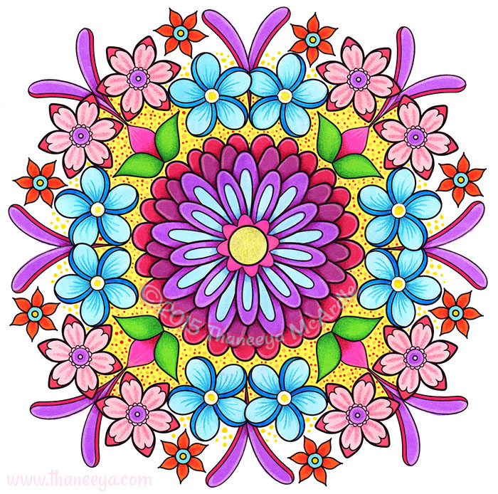 Flower Mandala 3 by Thaneeya McArdle