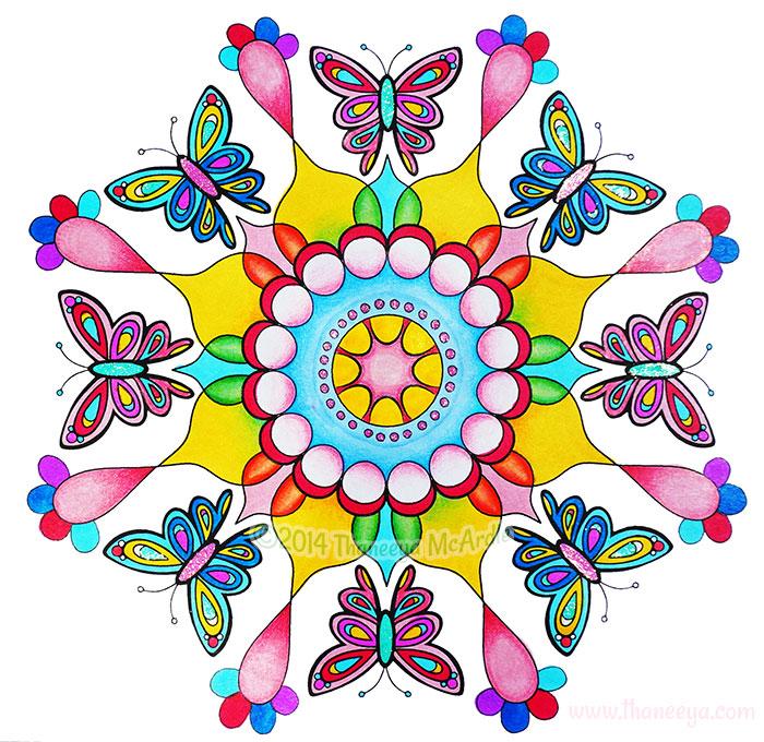 Butterfly Mandala by Thaneeya McArdle