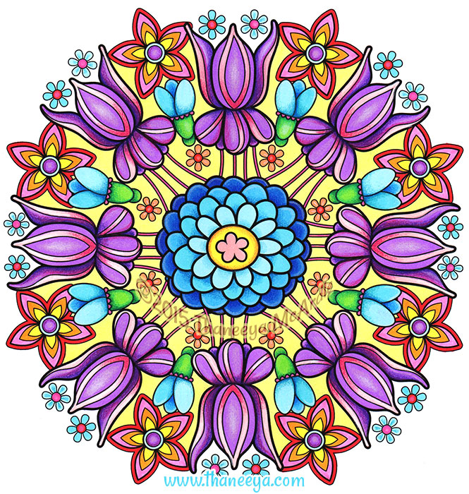 Flower Mandala by Thaneeya McArdle