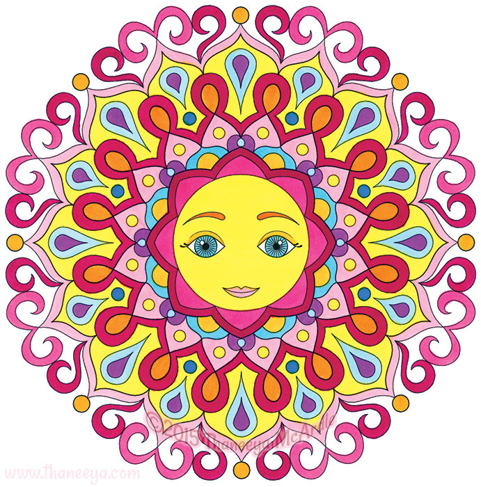 Whimsical Mandala by Thaneeya McArdle