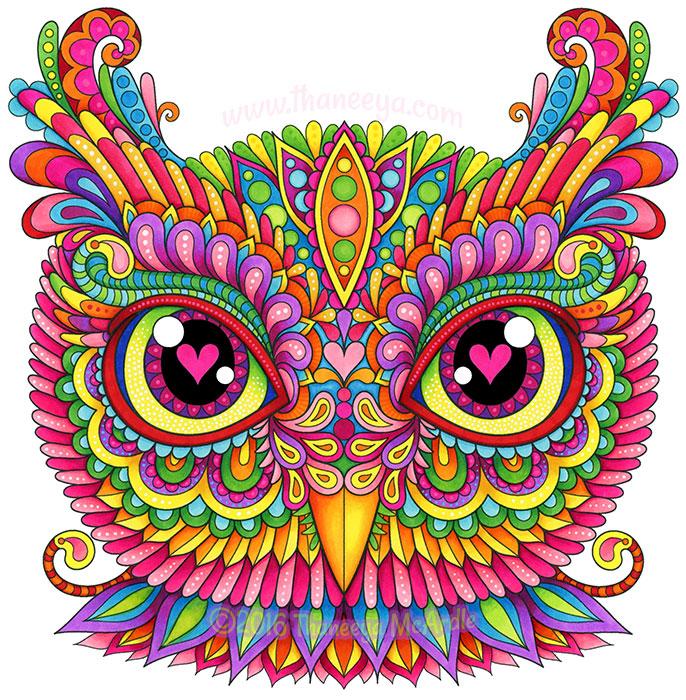 Gaze Owl by Thaneeya McArdle