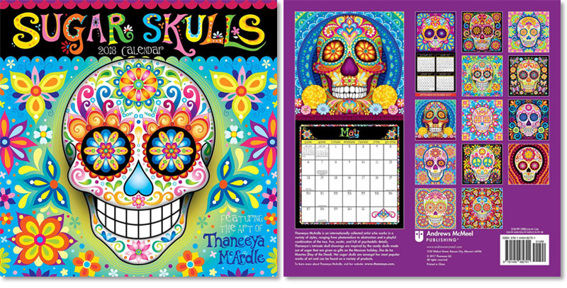 2018 Sugar Skulls Wall Calendar by Thaneeya