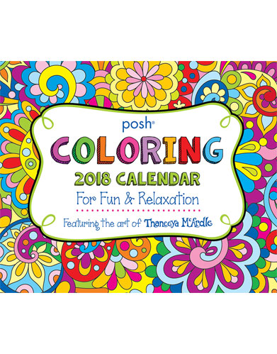 Posh Coloring Calendar by Thaneeya McArdle