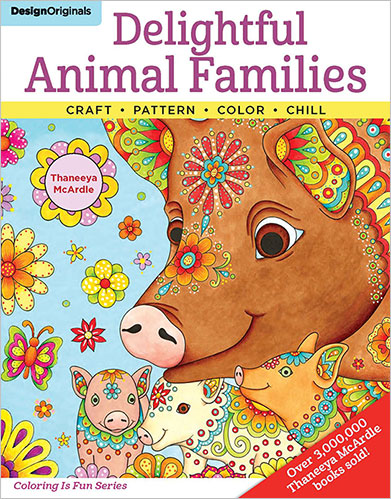 Delightful Animal Families Coloring Book by Thaneeya McArdle