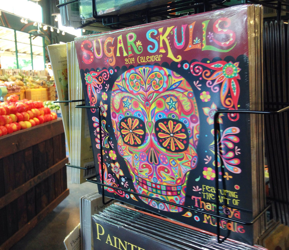 My very first Sugar Skulls Calendar, spotted at the Whole Foods in Kailua, Hawaii