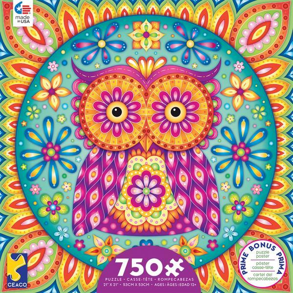 Owl Mandala Jigsaw Puzzle by Thaneeya McArdle