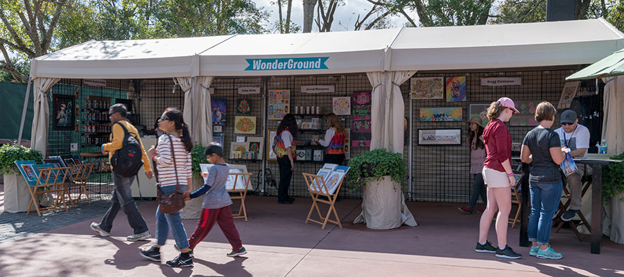 Art booth at Epcot's International Festival of the Arts