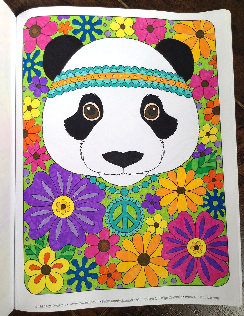 Panda Coloring Page By Thaneeya McArdle Colored