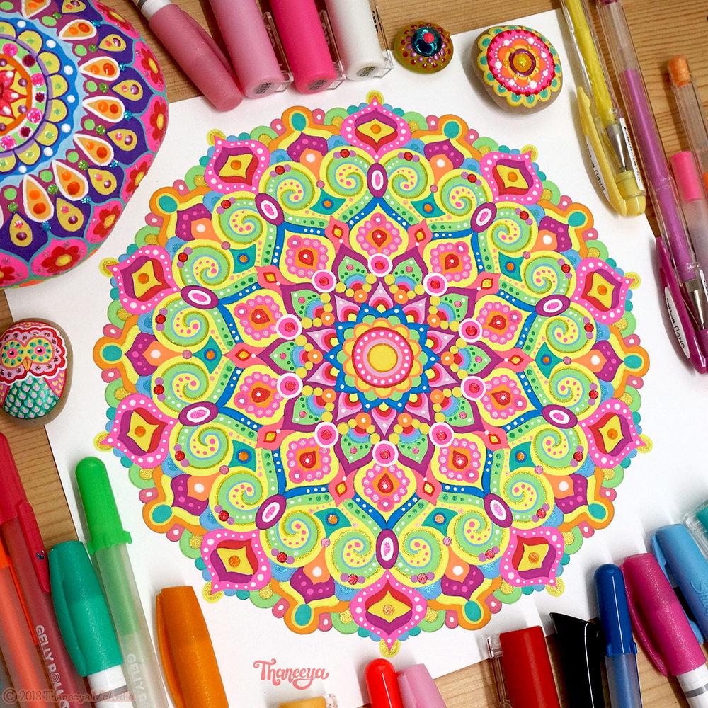 Neon Mandala Coloring Page By Thaneeya McArdle