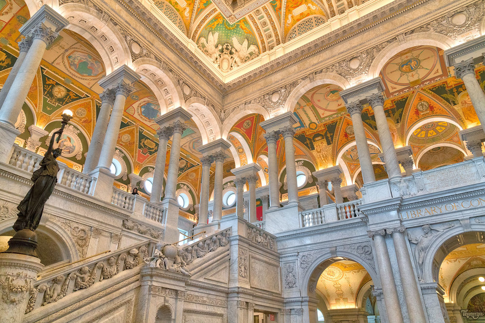 Thomas Jefferson Building at the Library of Congress in Washington, DC.