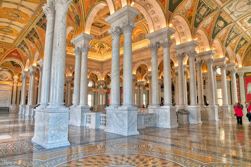 Inside the Jefferson Building, Library of Congress.
