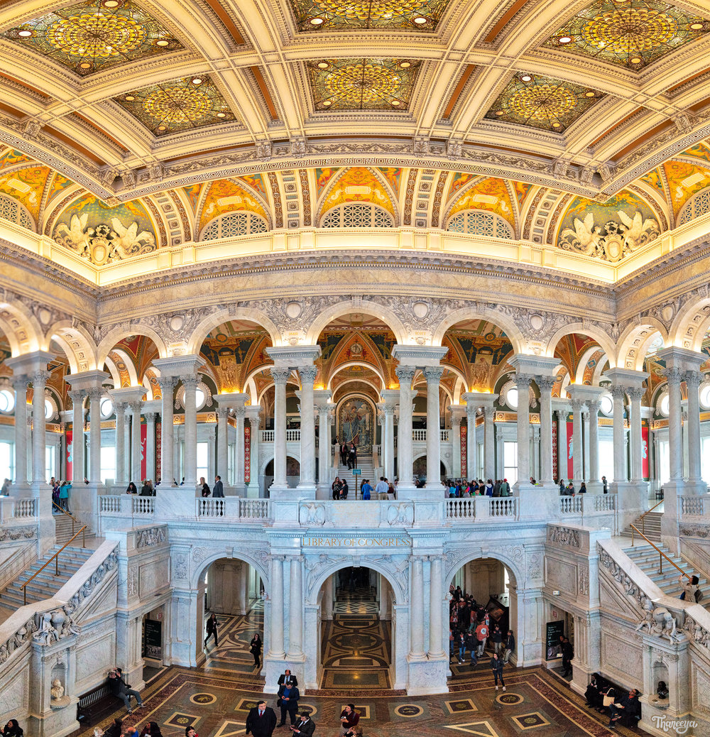 Jefferson Building at the Library of Congress in Washington, DC.