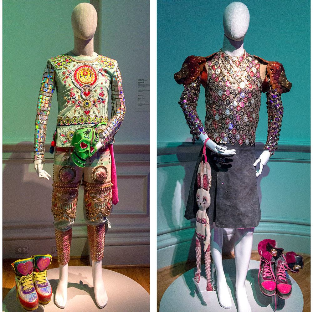 "Costumes at the ""No Spectators"" Burning Man Exhibit at Renwick Gallery in Washington, DC"