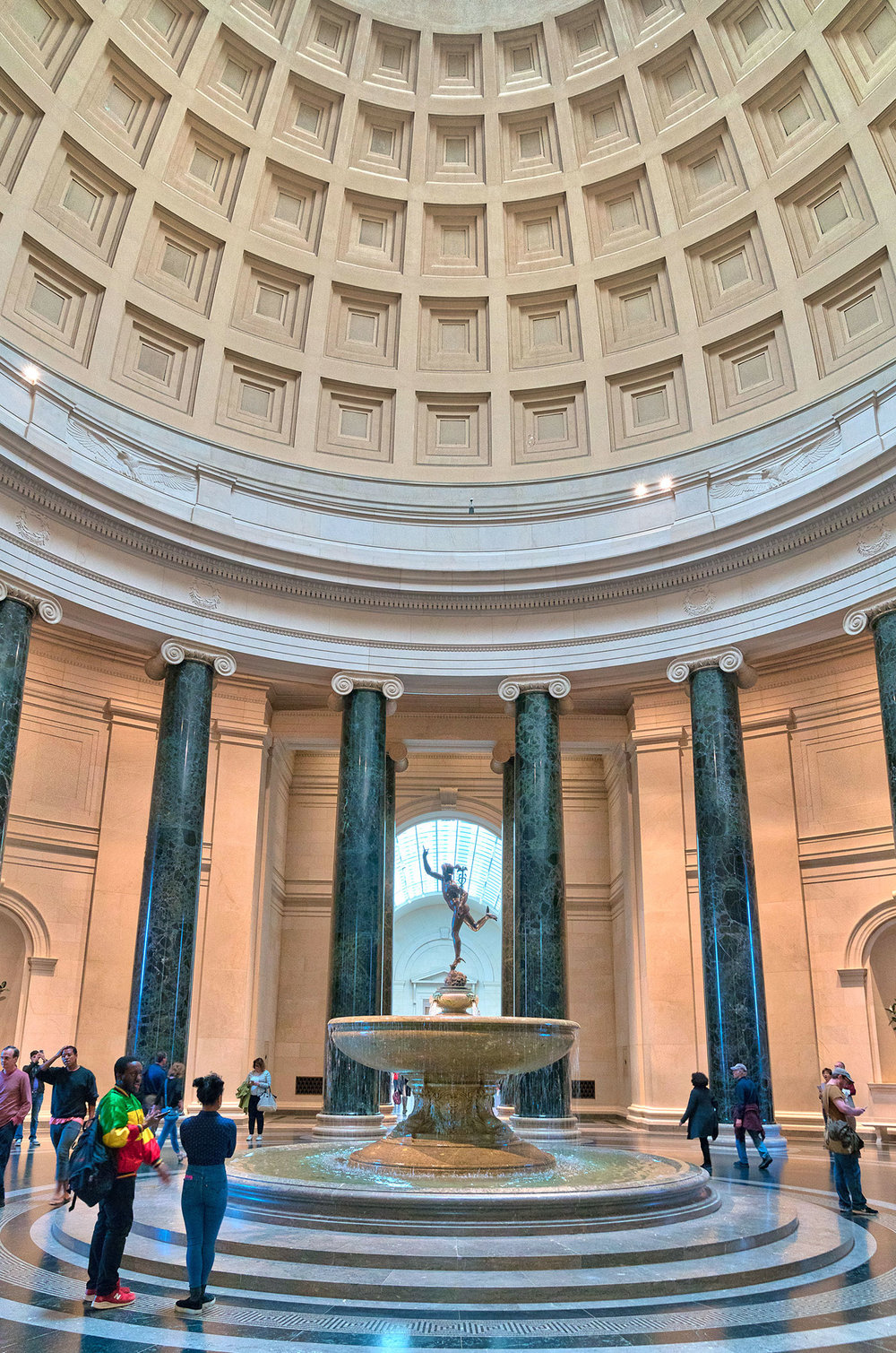Rotunda in the West Building at the National Gallery of Art in Washington, DC.