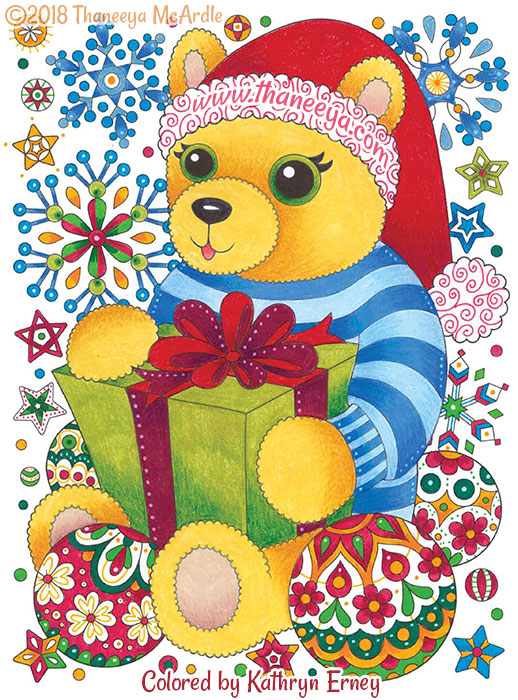 Teddy Bear Coloring Page by Thaneeya McArdle