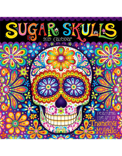 2019 Sugar Skulls Wall Calendar by Thaneeya McArdle