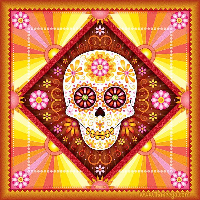 Solar Sugar Skull Art by Thaneeya McArdle