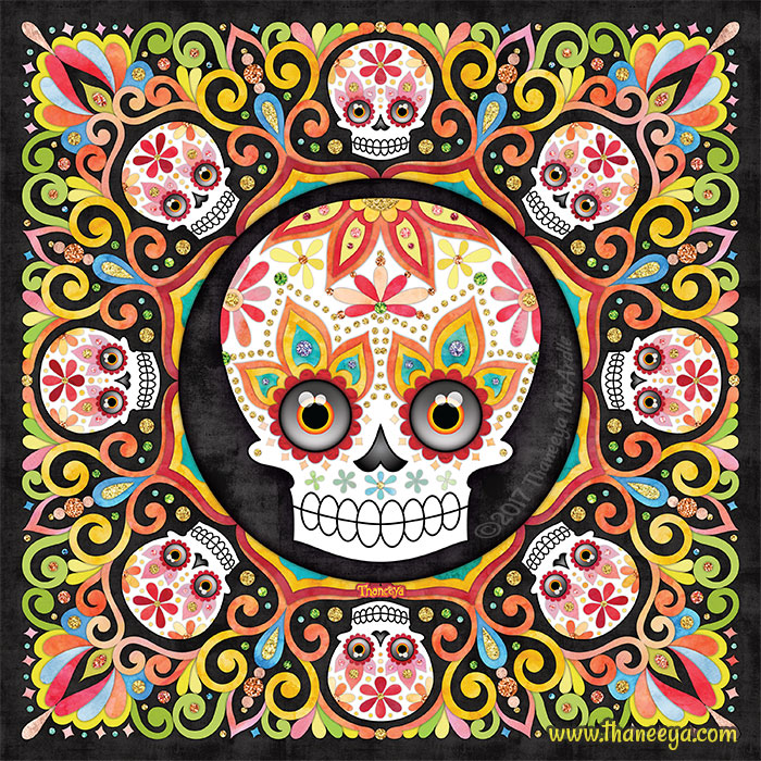 Skullster Sugar Skull Art by Thaneeya McArdle
