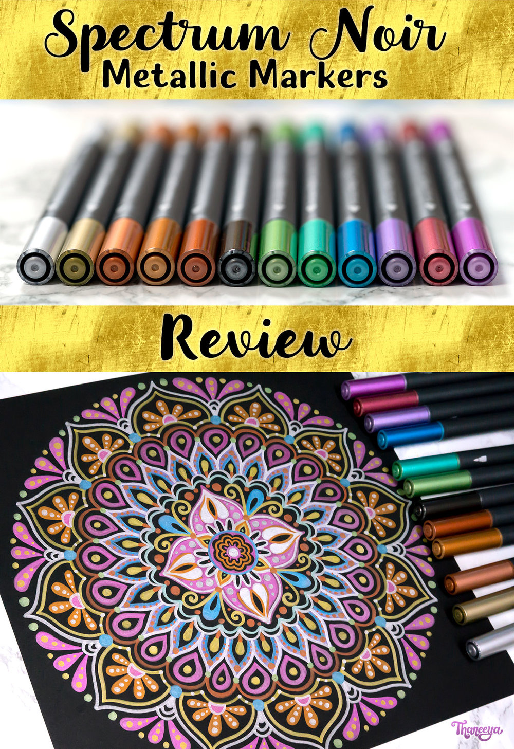 Spectrum Noir Metallic Markers Review by Thaneeya McArdle