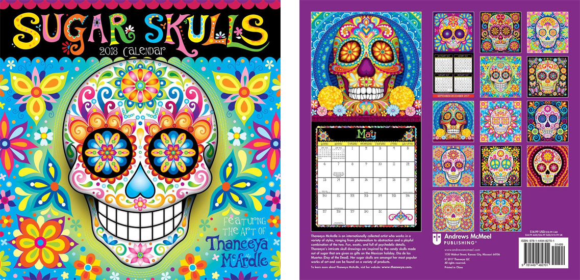 2018 Sugar Skulls Calendar by Thaneeya McArdle