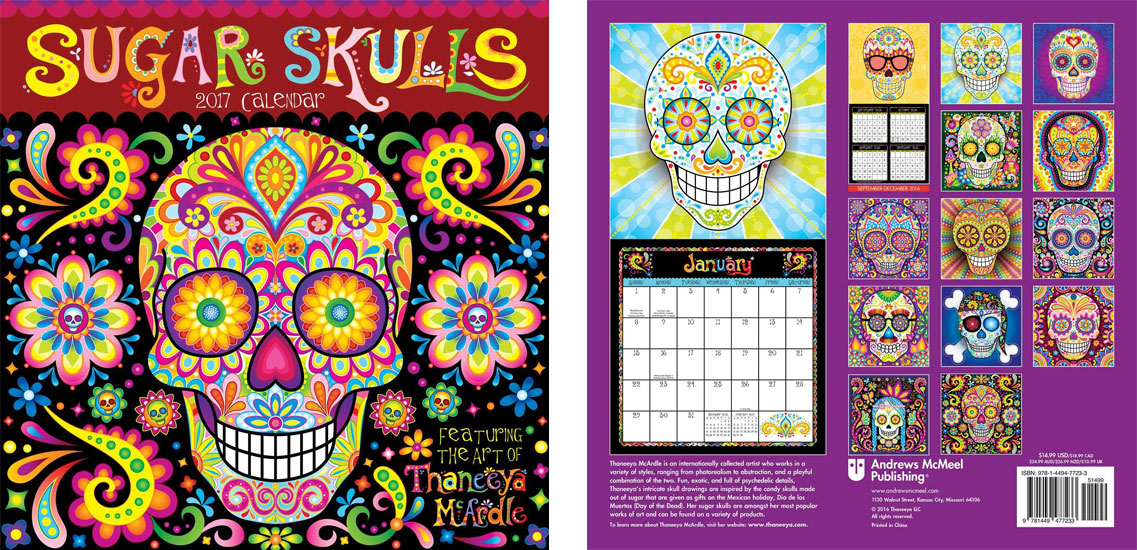 2017 Sugar Skulls Calendar by Thaneeya McArdle