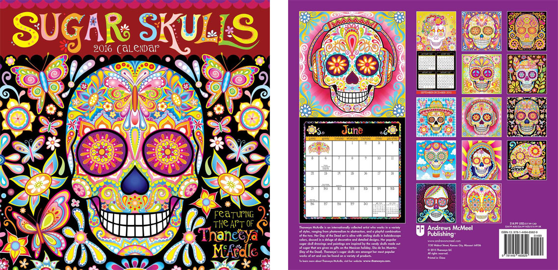 2016 Sugar Skulls Calendar by Thaneeya McArdle