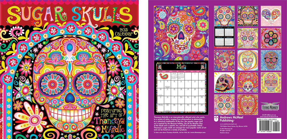 2015 Sugar Skulls Calendar by Thaneeya