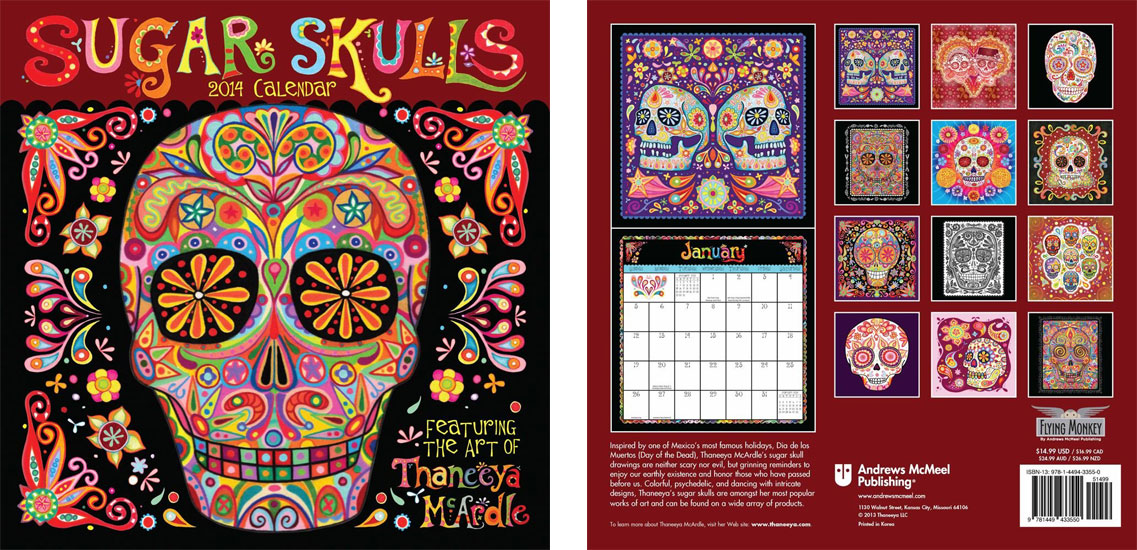 2014 Sugar Skulls Calendar by Thaneeya McArdle