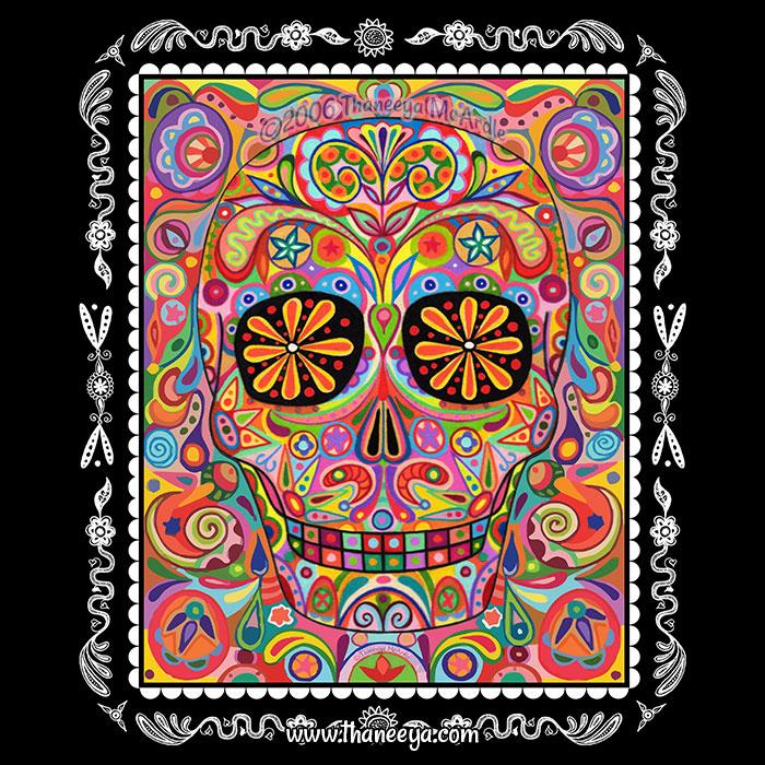 Colorful Sugar Skull By Thaneeya