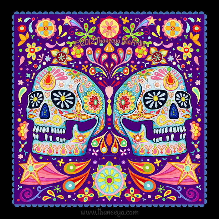 Day of the Dead Skull Odalis by Thaneeya