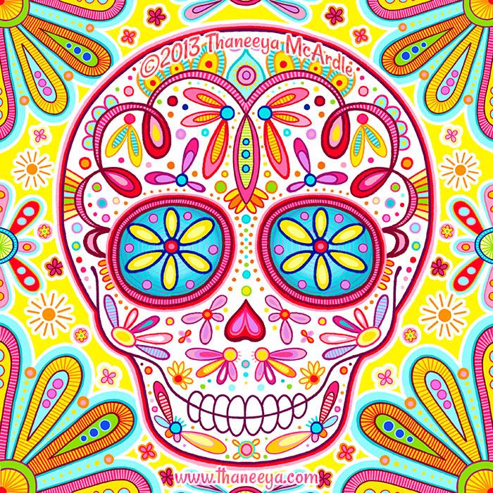Dia de los Muertos Skull by Thaneeya McArdle