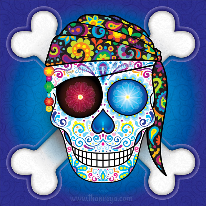 Pirate Sugar Skull by Thaneeya McArdle