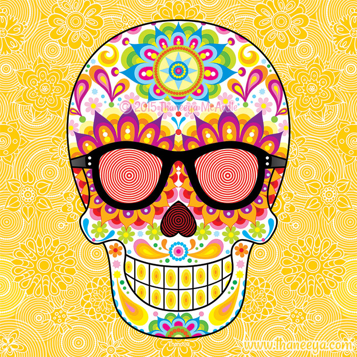 X-Ray Glasses Sugar Skull by Thaneeya McArdle