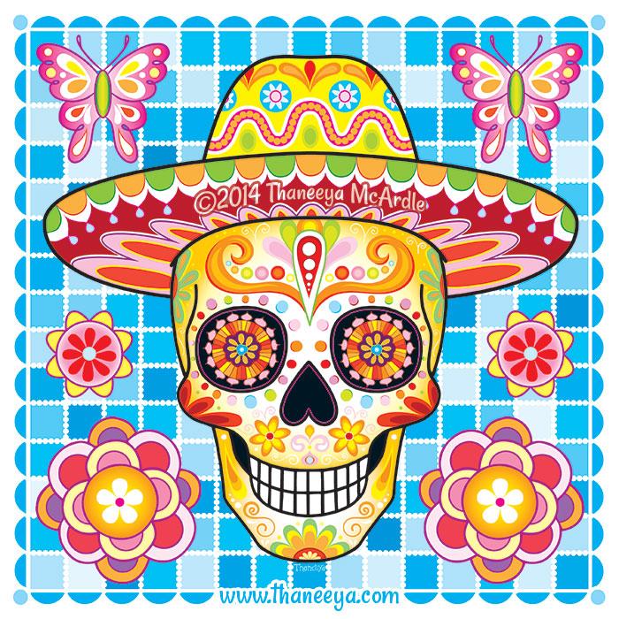 Sugar Skull Sombrero by Thaneeya McArdle