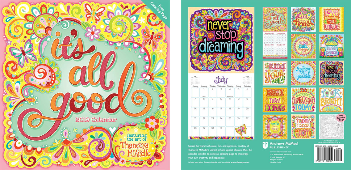 2019 its all good calendar by thaneeya mcardle