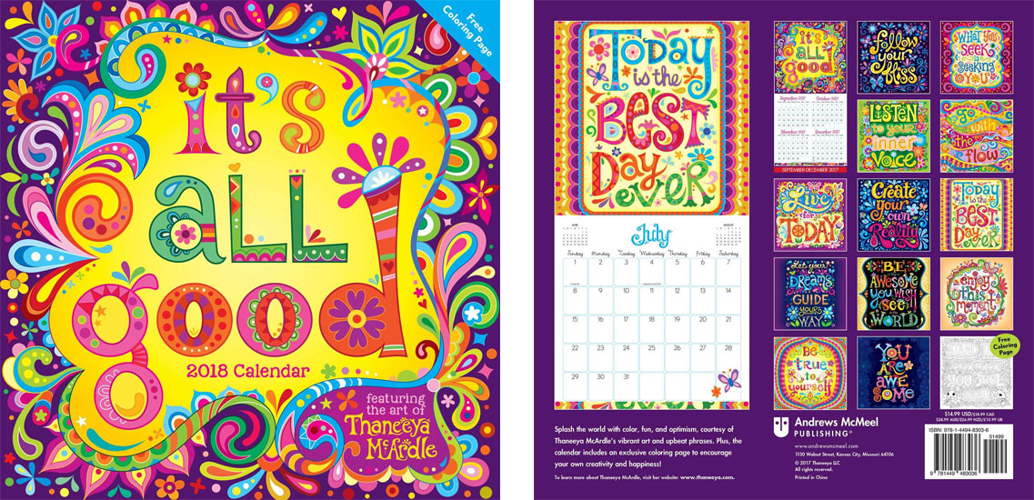 2018 It's All Good Calendar by Thaneeya McArdle