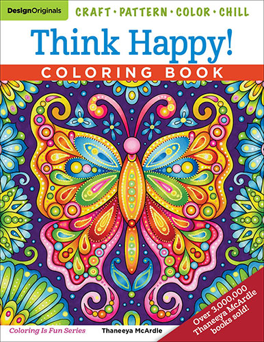 Think Happy Coloring Book by Thaneeya McArdle