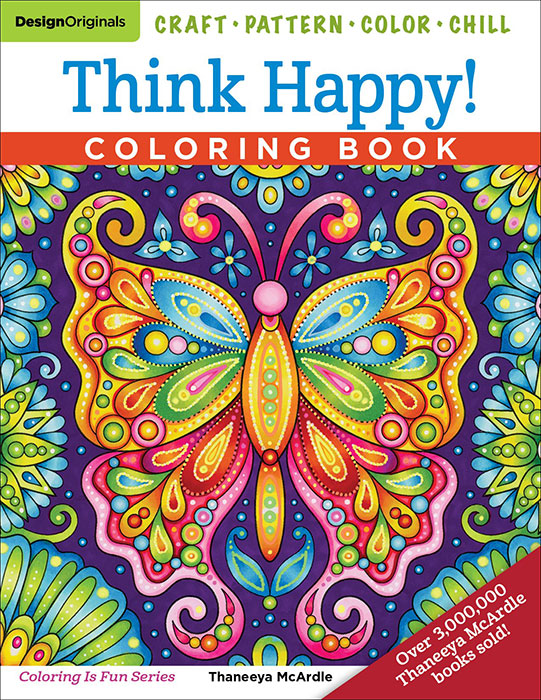 Think Happy Coloring Book by Thaneeya McArdle — Thaneeya.com
