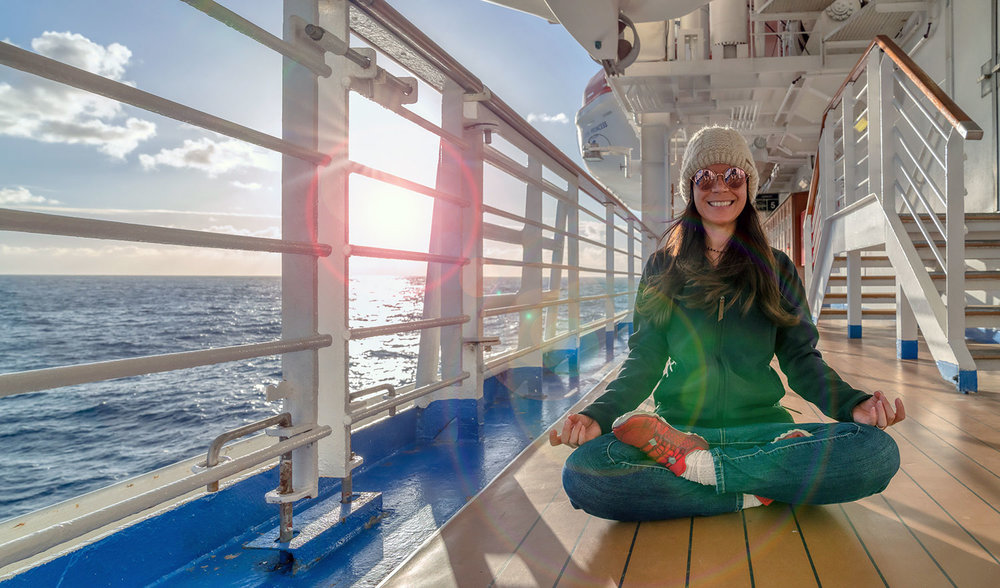 Thaneeya McArdle on the Golden Princess Cruise from Melbourne to New Zealand