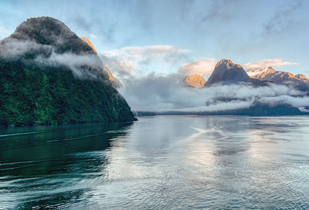 Morning at Milford Sound, Fiordland National Park in New Zealand