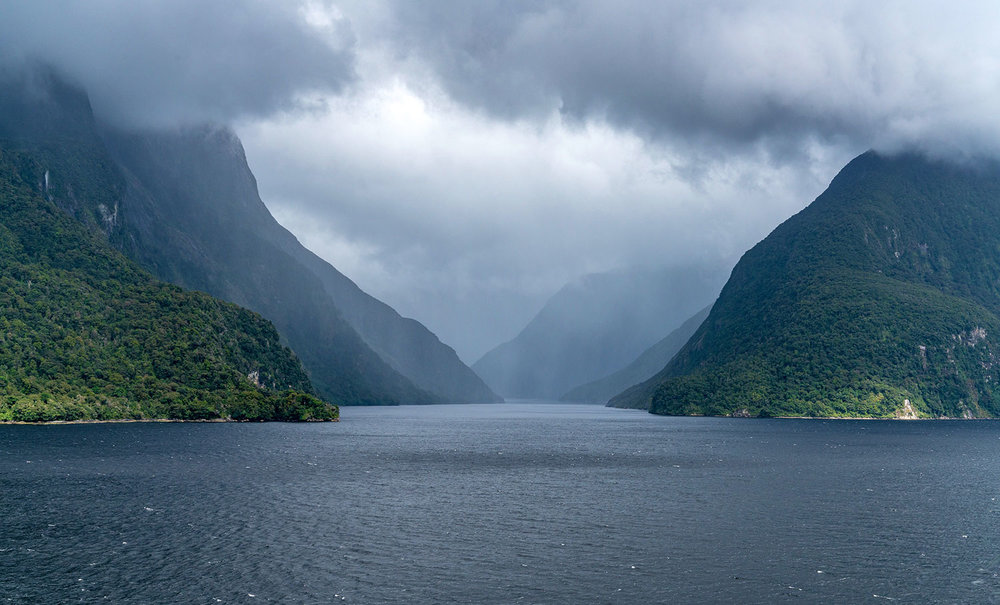 Doubtful Sound, Fiordland National Park in New Zealand