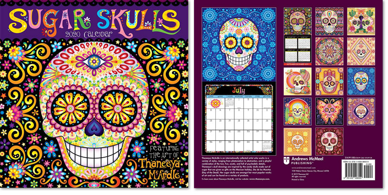 2020 Sugar Skulls Wall Calendar by Thaneeya