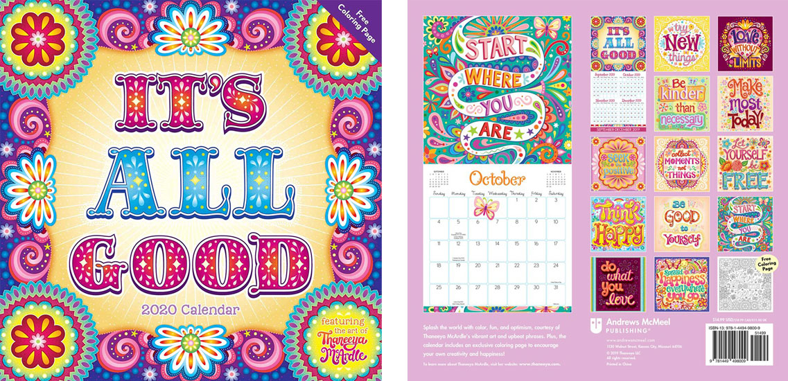 2020 It's All Good Calendar by Thaneeya McArdle