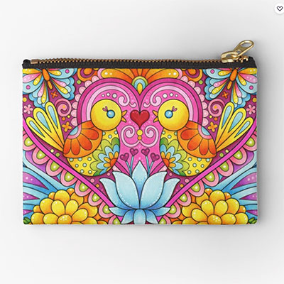 Zipper Pouches with Colorful Art by Thaneeya McArdle