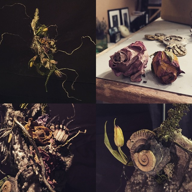 MUSIC VIDEO - BEHIND THE SCENES. WE CREATED 3 VANITAS DIORAMAS WITH ARTIST EMMA WINTER. RELEASED LATER THIS YEAR.