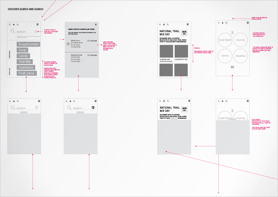 Ingredient 1 IOS App IA & Flow Map & Wireframe with defined UI components. My Role: UX design lead,  and interaction design.
