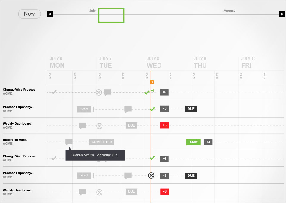 Scalus Schedule Concept & Annotations.  My Role: UX design lead,  and interaction design.