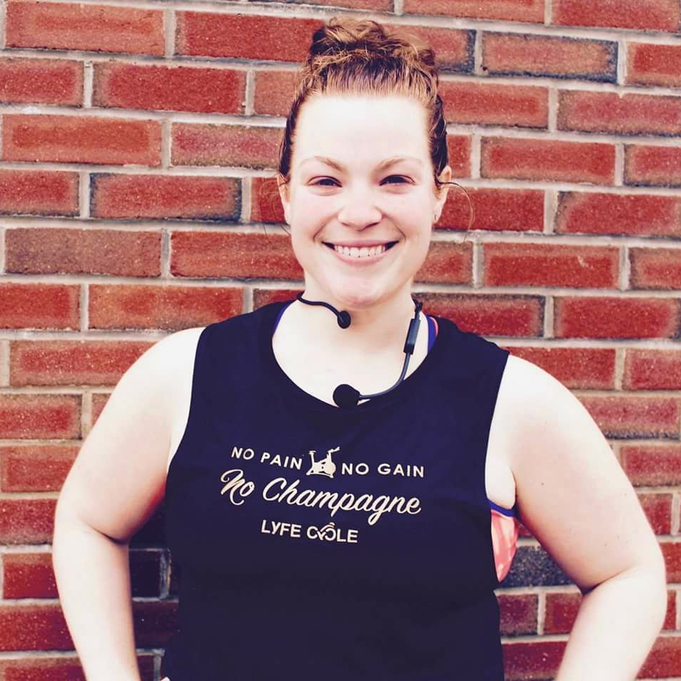 Caitlin grew up in Boston and spent her college years at Umass Amherst. Growing up, she always enjoyed sports and played softball for several years! After college, she found herself searching for a new type of workout to mix up a monotonous and stale gym routine. One of her best friends, an avid indoor cyclist, convinced her to try out a spin class. She had no idea what she was getting into and sat front row in a room full of people that all looked like professionals, but immediately was hooked on the music, motivation of the instructor and the energy of the riders. She instantly fell in love and decided to become an instructor!