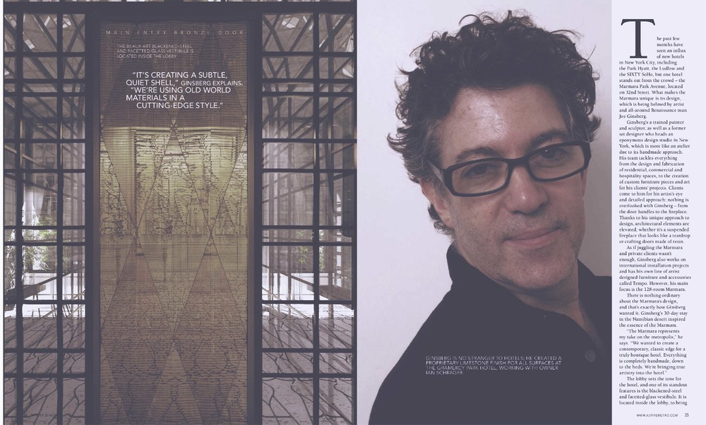 Hospitality Interior Designers in NYC area | Joe Ginsberg Design