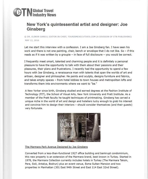 Hospitality Designers in New York City, NY | Joe Ginsberg Interior Design | 10011